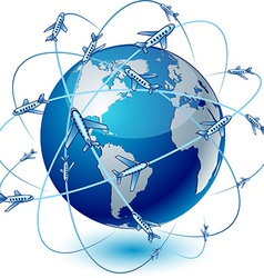Transportation Earth - America vector image