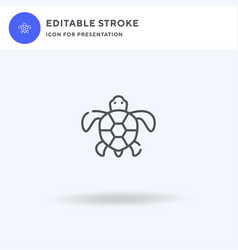 turtles icon filled flat sign solid vector image