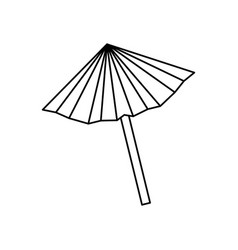 umbrella cocktail isolated icon vector image