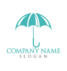 Umbrella logo design vector