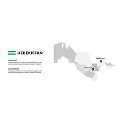 uzbekistan map infographic template slide vector image
