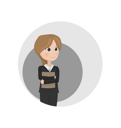 Woman avatar teacher or manager profession vector
