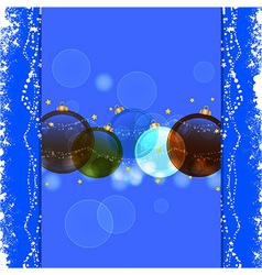 Christmas bauble blue background vector