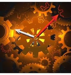 Gears clock background vector image