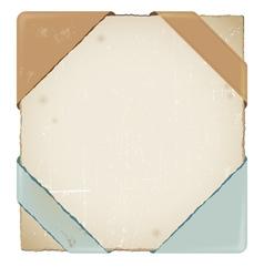 Old corner business ribbon vector image