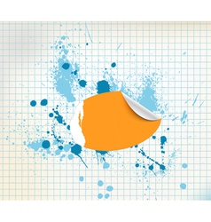 sticker background vector image vector image
