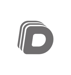 Letter D Logo Concept Icon vector image vector image