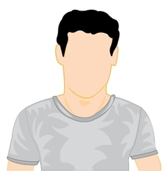 Silhouette of the person in t-shirt vector image vector image