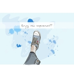 The sneakers and the sky vector image