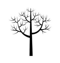 tree icon with branches poster vector image vector image