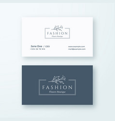 abstract fashion sign or logo and business vector image vector image