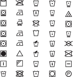Apparel care icons vector