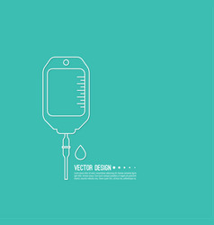 iv bag icon vector image vector image