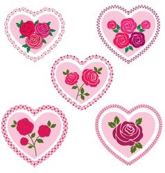 rose valentine hearts vector image