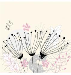 three flowers vector image vector image