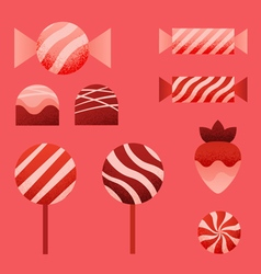 candies for Valentines Day vector image vector image