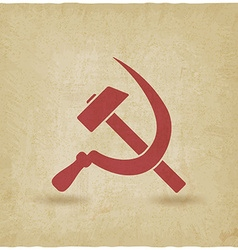 hammer and sickle symbol old background vector image vector image