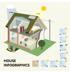 House Infographics vector image
