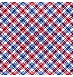 Red blue white diagonal check fabric texture vector image