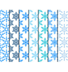 snowflake seamless pattern merry christmas and vector image vector image