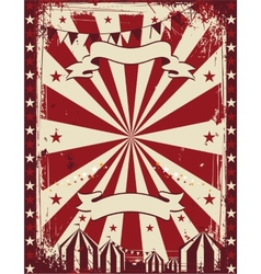 Vintage circus poster background advertising vector image vector image