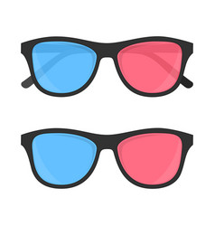3d glasses for cinema vector image