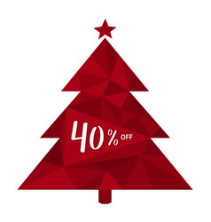 40 off forty percent discount christmas tree vector image