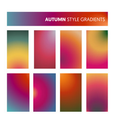 Abstract colorful gradients in autumn colors vector