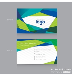 abstract modern blue green business card design vector image