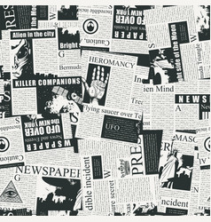 abstract seamless pattern on a newspaper theme vector image