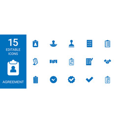 Agreement icons vector