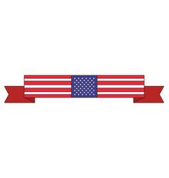 american flag cartoon vector image
