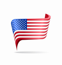 american flag map pointer layout vector image