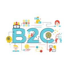 B2c business to customer word vector