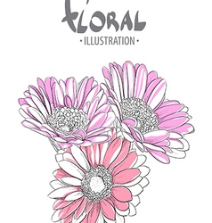 Beautiful gerbera vector