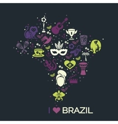 Brazilian thematic print 3 vector