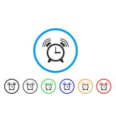 Buzzer rounded icon vector