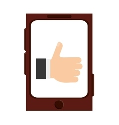 Cellphone thumb up vector