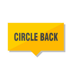Circle back price tag vector