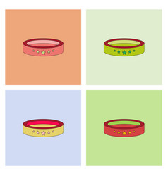 Circle circus or theater stage set vector