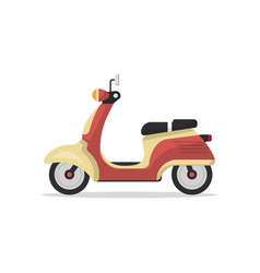 classic retro scooter isolated icon vector image