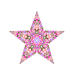 Colorful isolated geometrical flower ornament vector