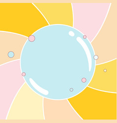 Colorful round background vector