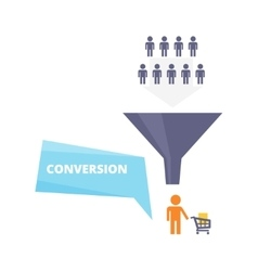 Conversion process flat vector image