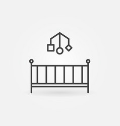 cot concept icon in outline style vector image