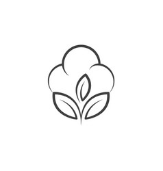 cotton flower icon template vector image