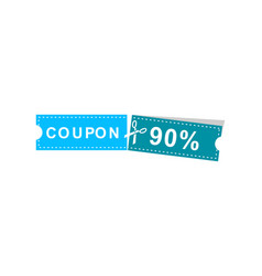 coupons discount banner 90 offers vector image