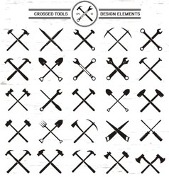 Crossed Tools Design Elements vector image