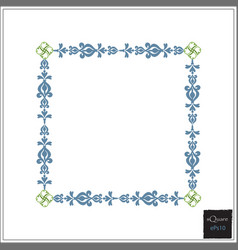 Design square elements for template frame of vector