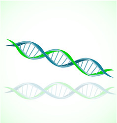 Dna strand double helix spiral icon set vector
